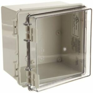 Bud Industries Nbf 32214 Enclosure Wall Mount Abs pc Light Gray