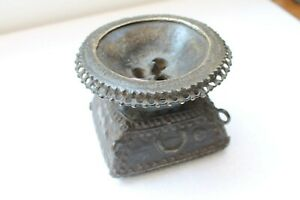 Antique Brass Old Hand Carved Fine Art Mughal Food Seeder Collectible Nh3824