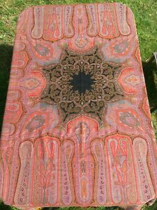 Antique C1870 Kashmir Paisley Woven Shawl India Scottish 70 X 70 No Holes
