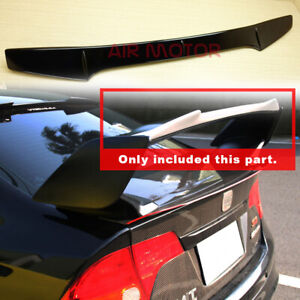 Fits 2008 2014 Wrx Sti 4th 4dr Top Gurney Flap Rear Trunk Spoiler Painted Color