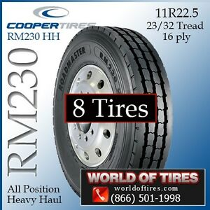 8 Tires Roadmaster Rm230 11r22 5 16 Ply Semi Truck Tires 11r22 5 22 5 11 22 5