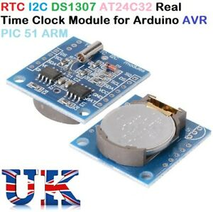 Rtc I2c Ds1307 At24c32 Real Time Clock Module For Arduino Avr Pic 51 Arm Tiny Uk