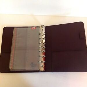 Franklin Covey Leather 7 Ring Planner Ring Binder Organizer Top Grain Cowhide