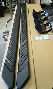 Oem 5 2015 2019 Ford F150 Truck Running Boards Magnetic Grey 5 Inch Cr