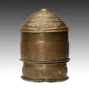 Vintage Forowa Shea Butter Container Copper Bronze Asante Ghana West Africa