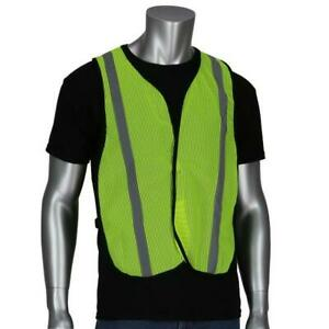 Safety Works Swx00354 High Visibility Safety Vest Lime Yellow Mesh 9 Pack