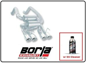 Borla Axle back Exhaust S type Classic W ss Cleaner For 05 08 C6 Corvette 11744