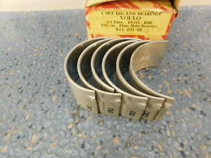 Volvo 444 544 B14 Conn Rod Bearings Oversize 010 25mm Dualloy 3 Journals