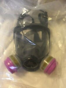 North Honeywell 54001 Series 5400 Full Face Respirator Kit With Filter Size M l