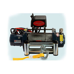 Vi Universal Kds 8 0 8000lb Pound Electric Recovery Winch 12v Steel Cable Rope