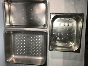 Instrument Trays Perforated Stainless Steel Used 3 Included In 1 Price
