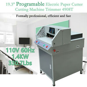 19 3 Electric Paper Cutter Programmable Cutting Machine Trimmer 4908t Office Us