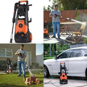 Adjustable Nozzle Pressure Washer Car Psi 1 85 Electric Power Wash W Hose Reel
