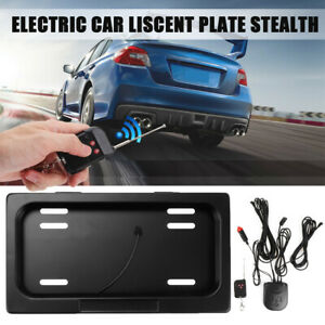 Electric License Plate Stealth Car Number Roller Shutter Protect Cover Us remote