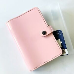 Filofax Original Patent Rose Personal Organizer Planner Pink Leather