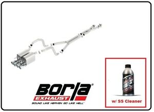 Borla Cat back Exhaust S type Ii W ss Cleaner For 05 08 C6 Corvette 140452