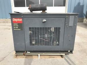 __20 Kw Dayton Generator 3 Phase 12 Lead Natural Gas propane Engine 3600 Rpm