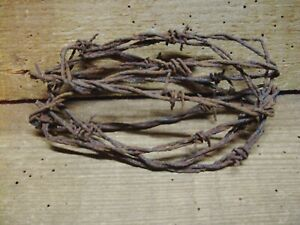 Oval Ball Of Rusty Barb Wire 15 Farm Fresh 6 Ft