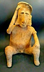 Large Pre Columbian Jalisco Male Figure Mexico 200 Bc To 500 Ad