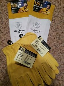 Tillman 24cl Large Tig Welding Gloves Top Grain Kidskin Leather 2 Pairs