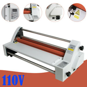 110v 17 Hot Cold Roll Laminator Single dual Sided Laminating Machine New