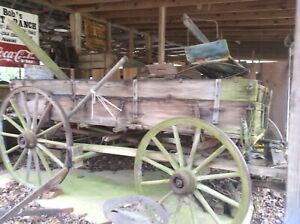 Antique Vintage Horse Drawn Wagon 100 Plus Years Old