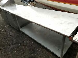 Stainless Steel Commercial Kitchen Long Work Food Prep Table