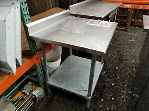 Stainless Steel Commercial Kitchen Short Work Food Prep Table