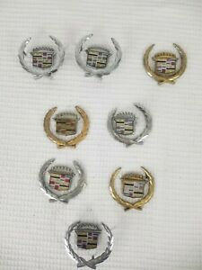 Mixed Lot Of Cadillac Emblems Vintage