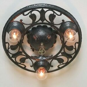 615b Vintage Antique Ceiling Light Fixture Art Nouveau Chandelier