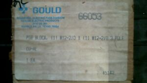 Gould Shawmut 66053 Power Distribution Block 600v 3p free Shipping