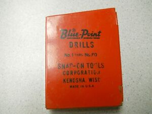 Blue Point Drill Index 60 Drill Set Made By Snap on Tools Vtg Usa