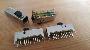 6p3t Pcb Mount 24 pin 6 Pole 3 Position Slide Switch Type Ss63d01