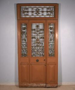80 Tall 98 With Transom Set Of French Antique Oak Wood Exterior Doors