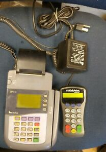 Verifone Omni 3200 Credit Card Terminal Processor With Power Cord Pin Pad