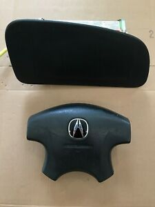 2002 2003 Acura Tl Driver And Passenger Side Alrbag Set Black Color Oem