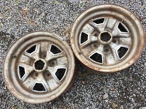 1975 87 Olds Cutlass 442 F85 Ss2 Rally Wheel W Interior Trim Rings Qty 2