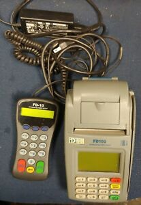 First Data Fd100 Credit Card Machine With Power Cord Pin Pad