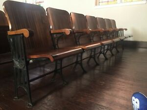 Antique Theatre Chairs