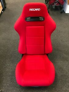 Recaro Srd Sr3 Red Racing Seat Reclinable W Sliders Jdm Type R Single Open Box