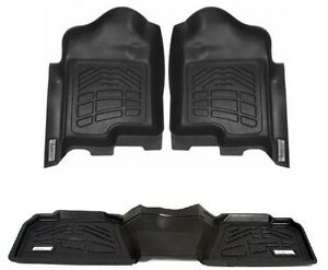 Combo Floor Mats 1st And 2nd Row Ford F 150 Super Crew 2011 2014 Black