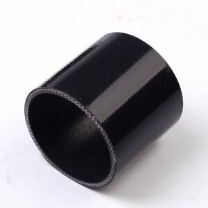 Black 1 1 2 Inch 38mm Silicone Straight Hose Coupler Connector Joiner Radiator