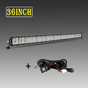 32inch 4080w Quad Row Led Work Light Bar Flood Spot Offroad Driving Pk 30 32 36