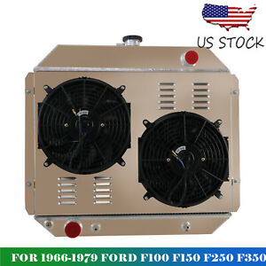 3 Row Radiator Shroud Fan Relay Kit For 66 79 Ford F 150 F 250 Truck V8 Cpa