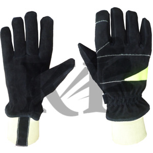 Fire Fighter Genuine Leather Protective Gloves
