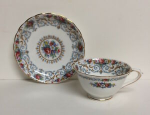 Vintage Cup And Saucer Orleans Pattern Made By Tuscan