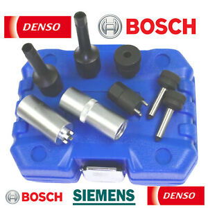 8pc Injector Common Rail Repair Kit Bosch Siemens Denso Valve Lapping Tool