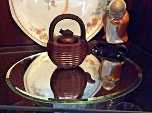 Vintage Chinese Yixing Zisha Clay Tea Pot Signed On Pot