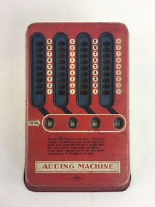 Vintage 1940s Mechanical Adding Machine Wolverine Pull Dial Hand Calculator A95