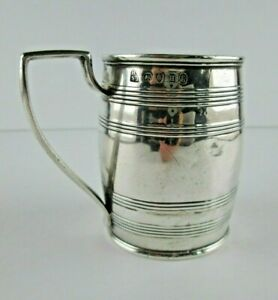 Antique 1803 George Iii Georgian London Sterling Silver Mug Cup